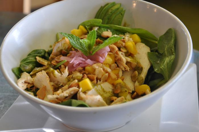 Mango Mint Chicken Salad at Blue Lemon