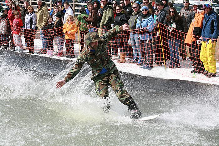Pond Skimming Action at Camelback Mountain