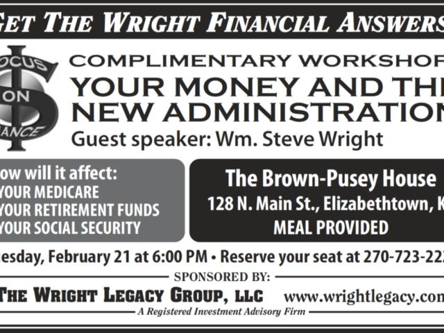 Your Money and the New Administration Seminar