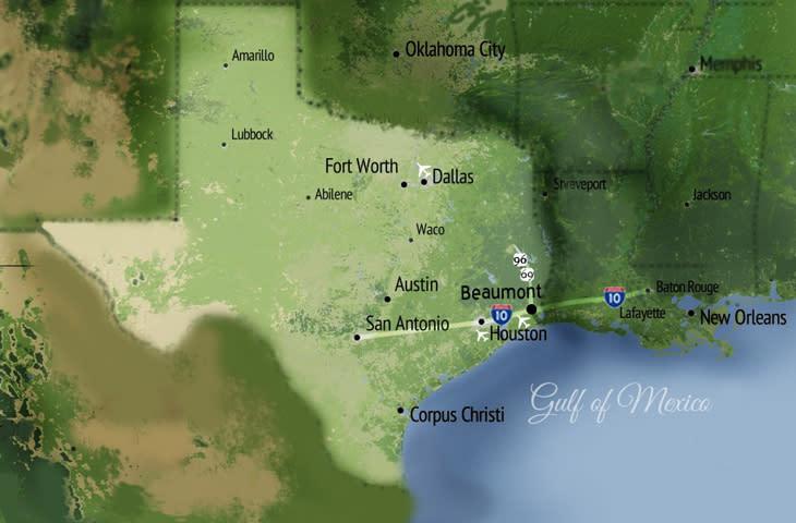 Texas Coast Map