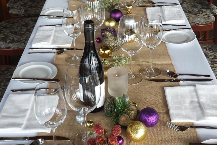 Quails' Gate Table Setting