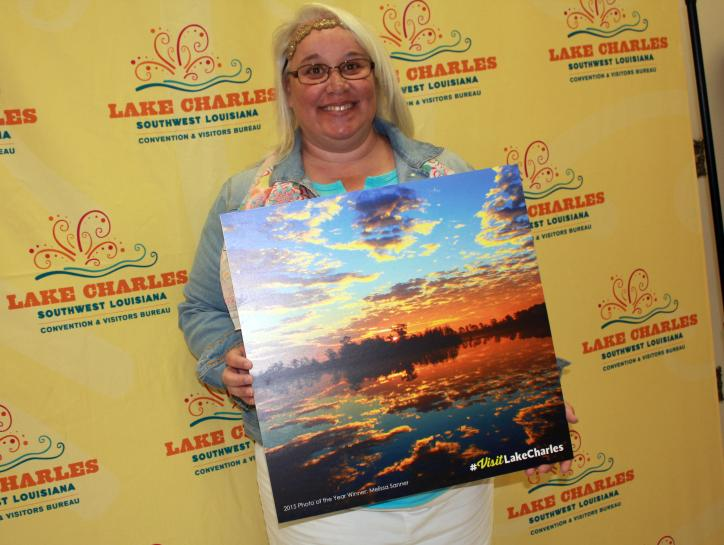 Photo of the Year winner, Melissa Sanner at the 2016 National Tourism Week Awards luncheon.