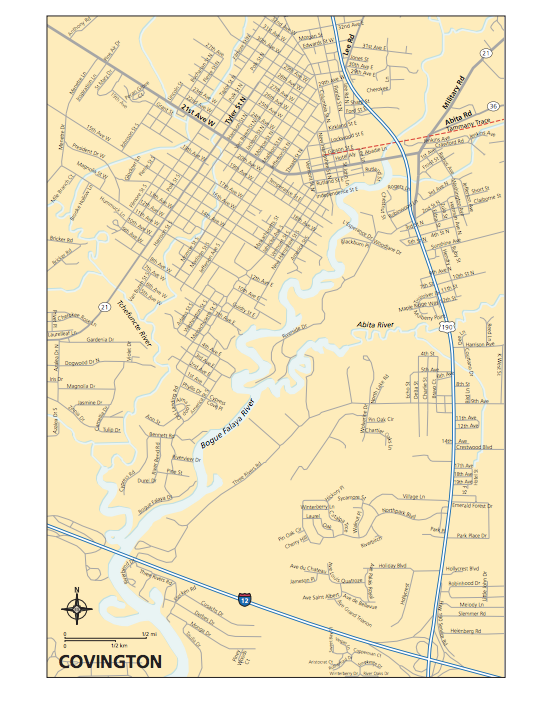 Map of Covington