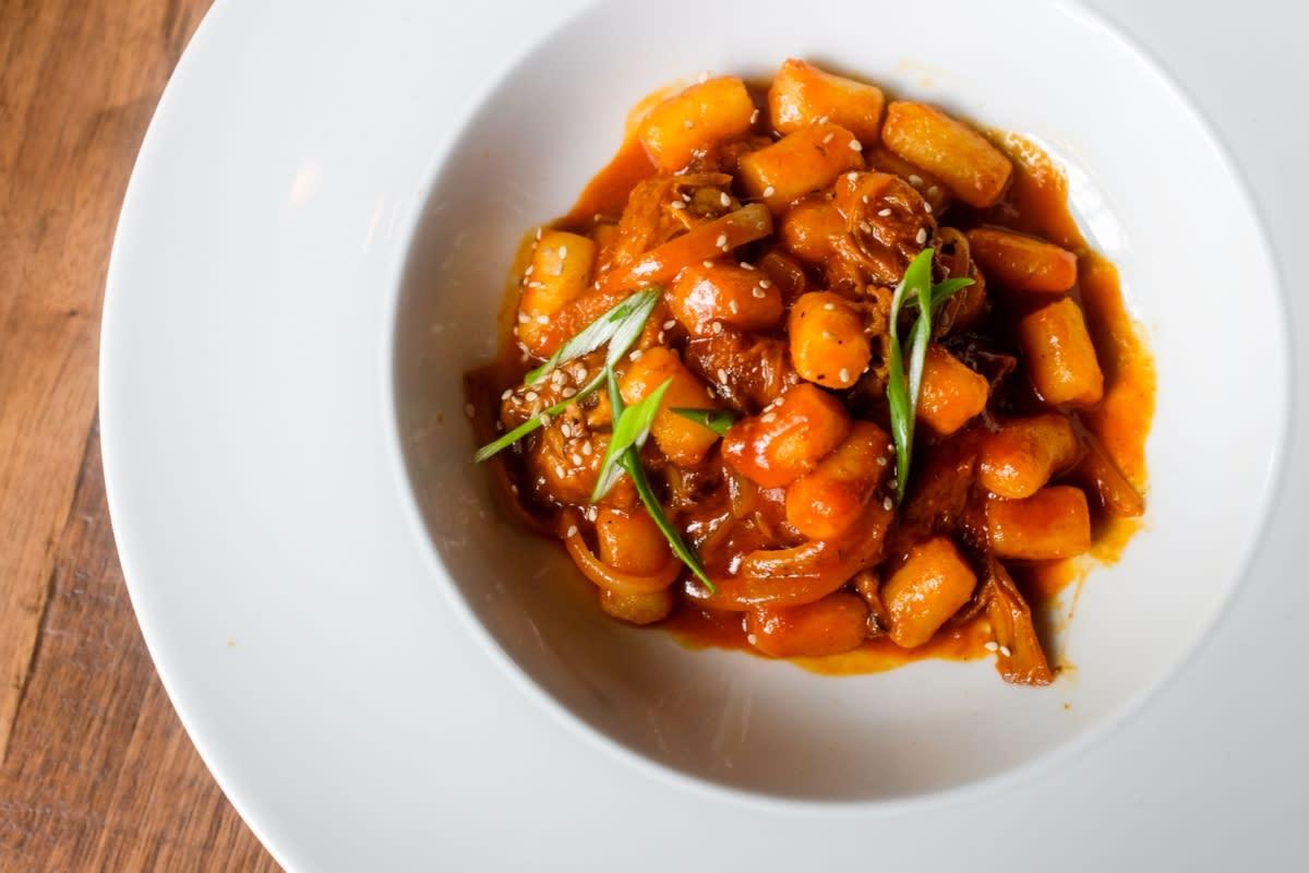 Underbelly Korean Braised Goat Dumplings