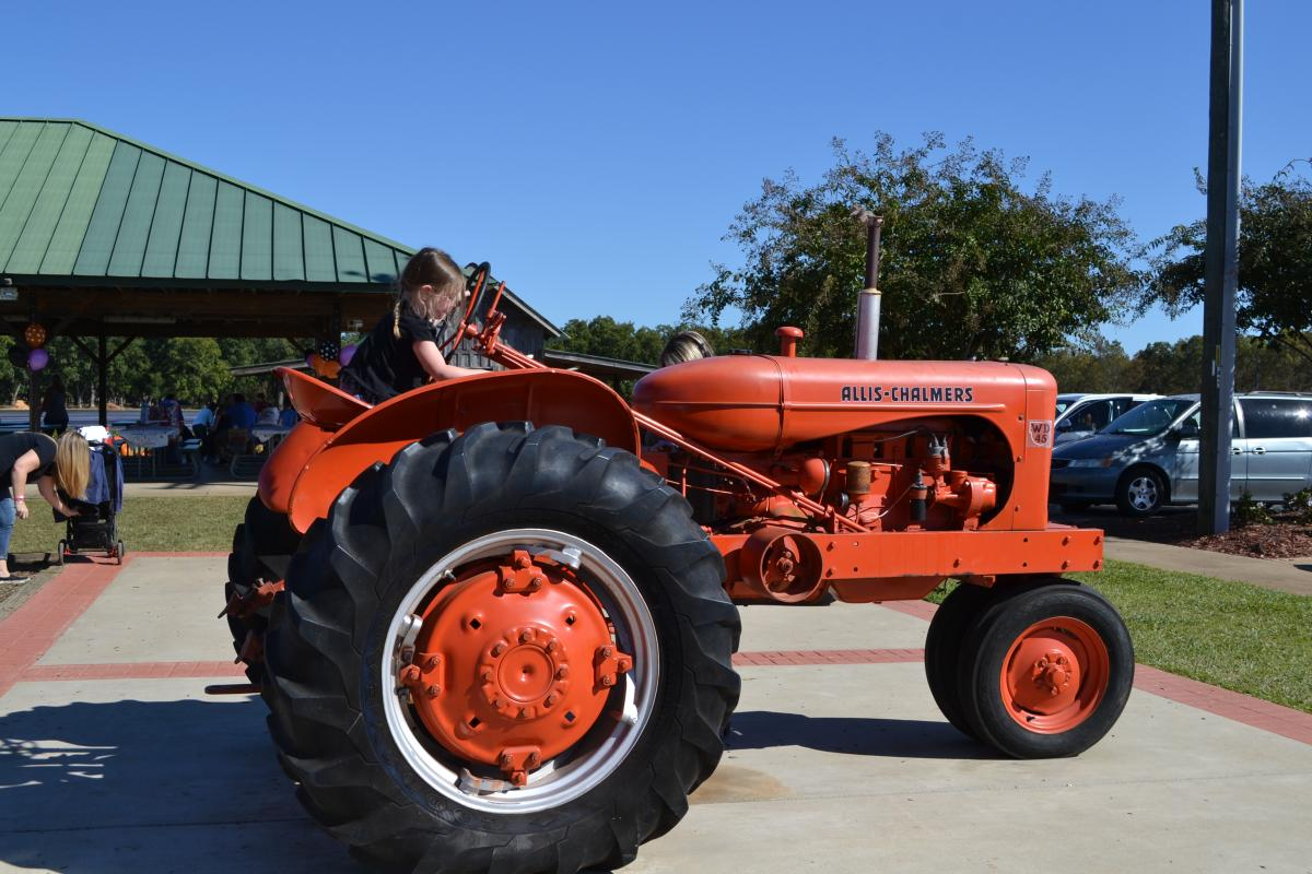 Tractor at Lane Southern Orchard