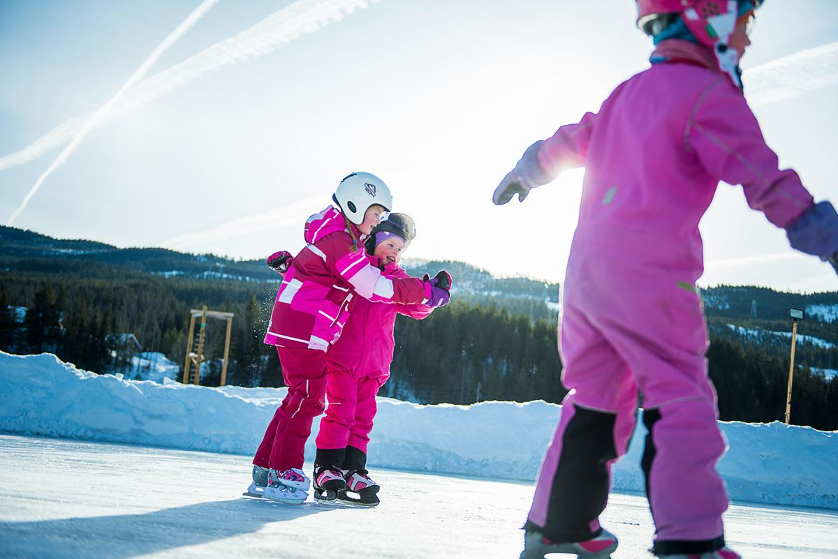 Barn på skøyter, Ål i Hallingdal