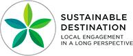 Sustainable destinations logo, English version