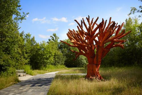Ai Weiwei Iron Tree displayed at Frederik Meijer Gardens & Sculpture Park