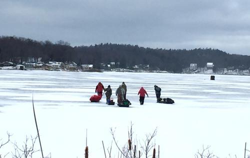 Ice Fishing in Grand Rapids, Michigan