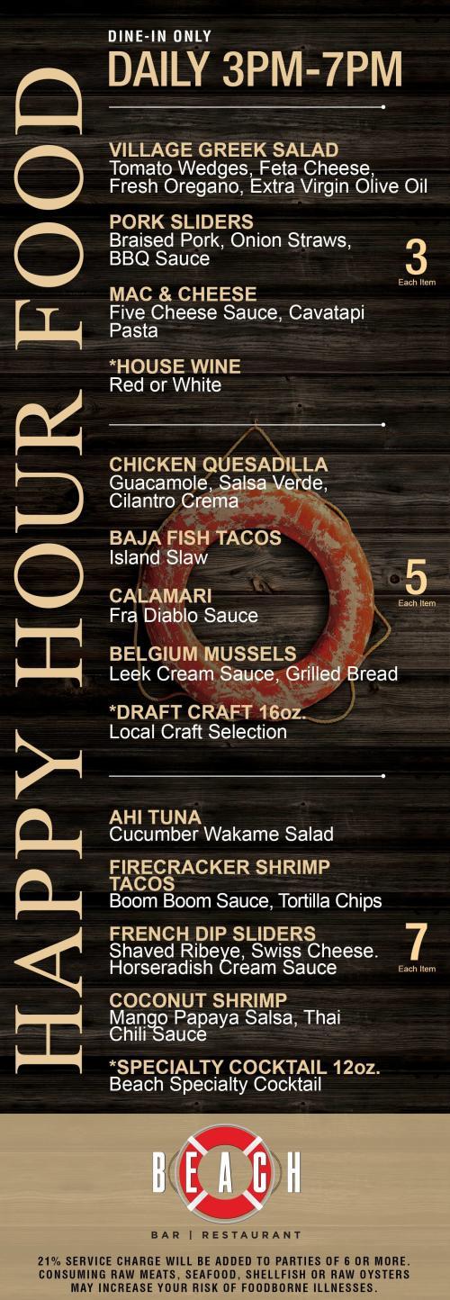 Happy Hour at Beach Bar | Restaurant