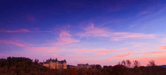 Biltmore in the Fall at Sunset