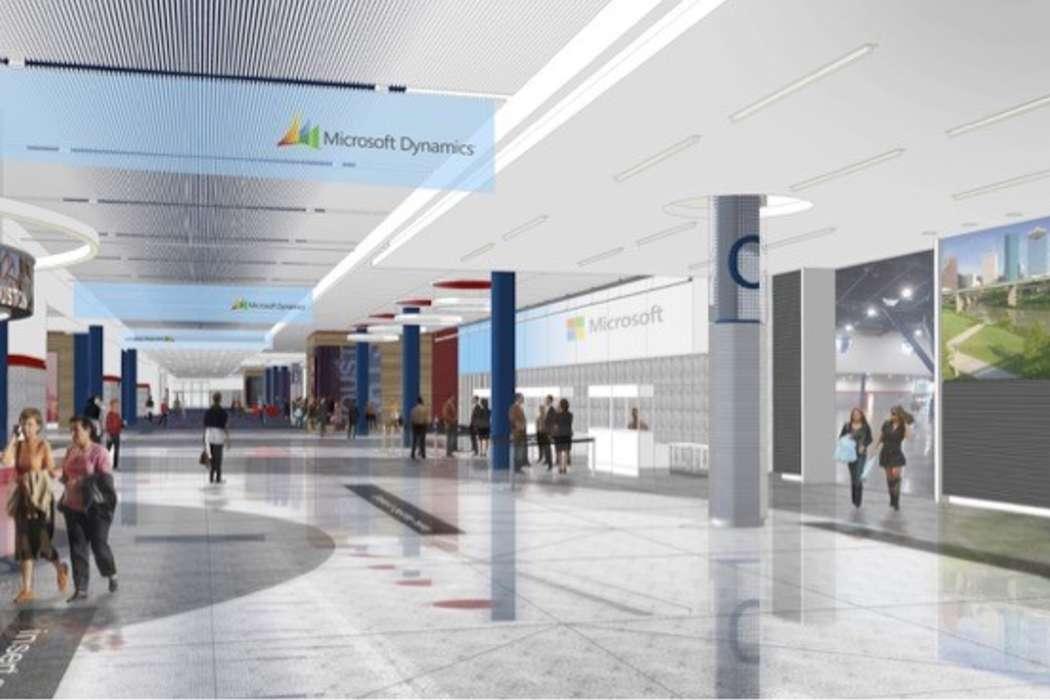 GRB Concourse connecting the GRB's prime exhibit space