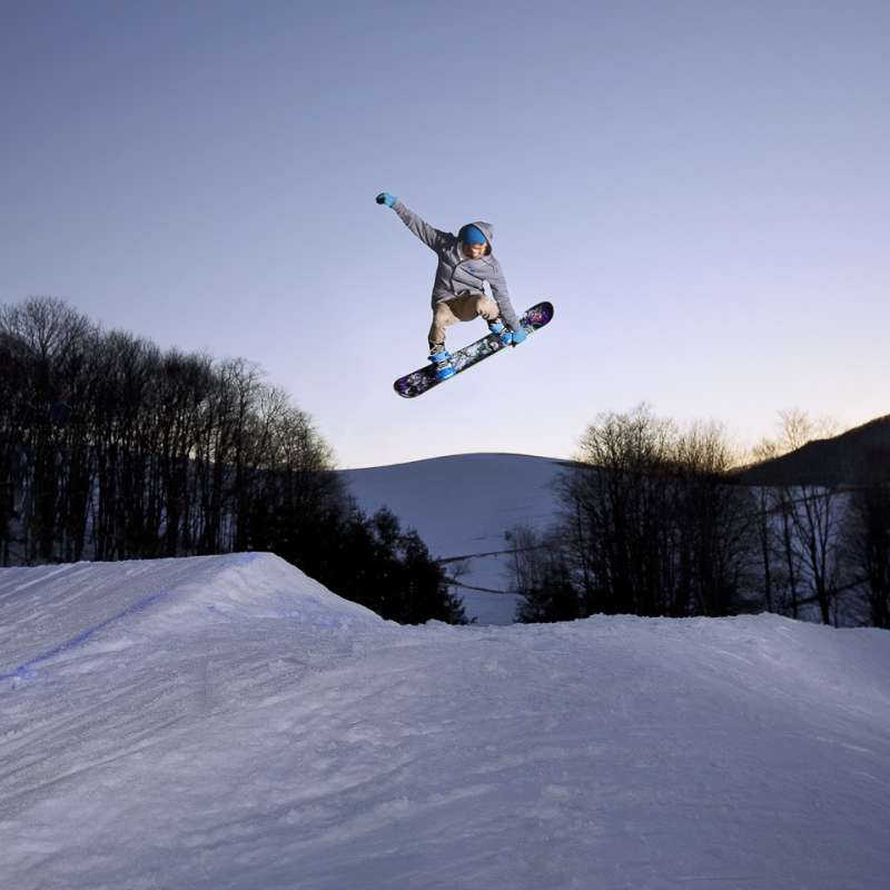 Snowboarding at Cataloochee Ski Area