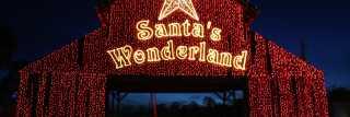 Holiday lights display