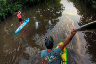 Water Recreation Paddleboarding the Bogue Falaya River with Bayou Paddle Company