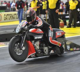 Motorcycle drag racing at U.S. Nationals