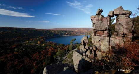 Devil's Lake in Fall