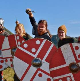 You can safely go berserk at the Viking festival at Borg in Norway's Lofoten Islands