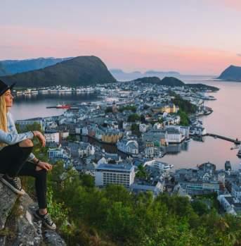 Aksla viewpoint in Ålesund
