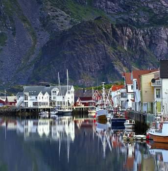 Lofoten Henningsvaer Harbour