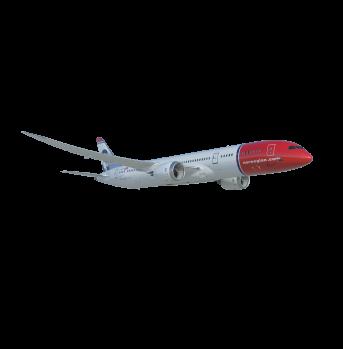 Norwegian dreamliner transparent