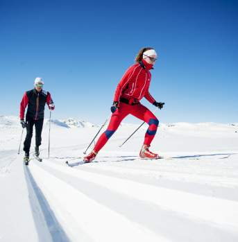 Crosscountry skiing in Hovden