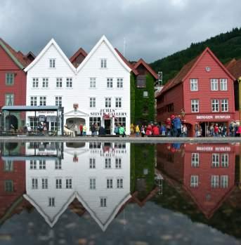 Bryggen, the old wharf of Bergen