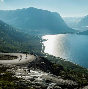 Road cycling, Geirangerfjord