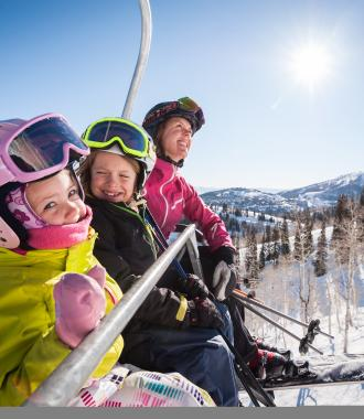 Family on Charlift at Deer Valley