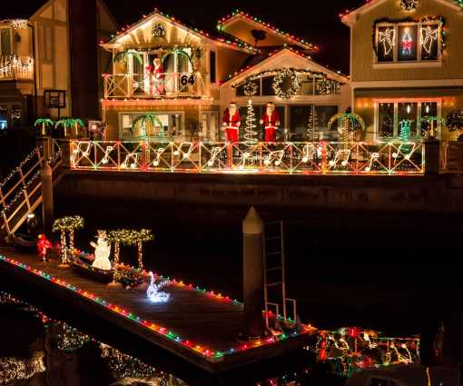 Cruise of Lights Illuminates Huntington Harbour