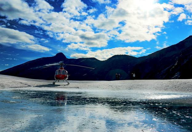 Helicopter at Taku Glacier