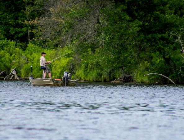 Fishing on the Wisconsin River