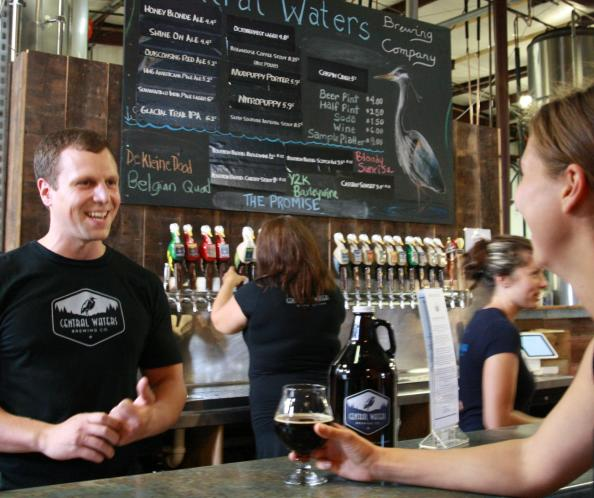 Central Waters Tap Room in Amherst