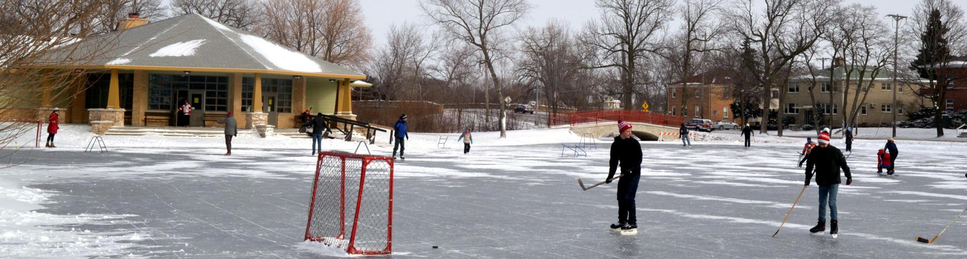 Tenney Park Ice Skating