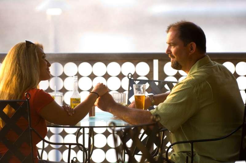 Romantic couple dining