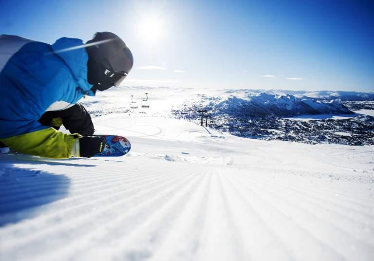 Snowboarding at Hovden Alpine Centre