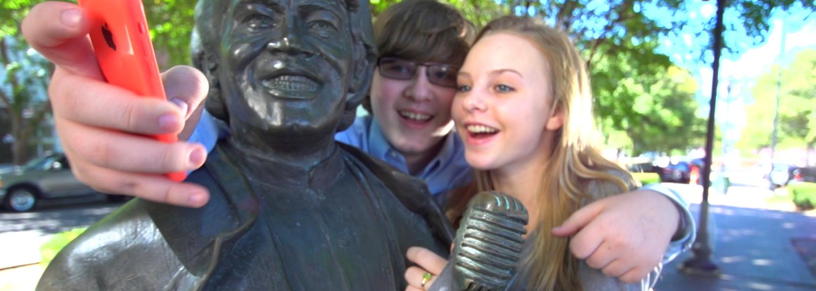 James brown selfie cropped