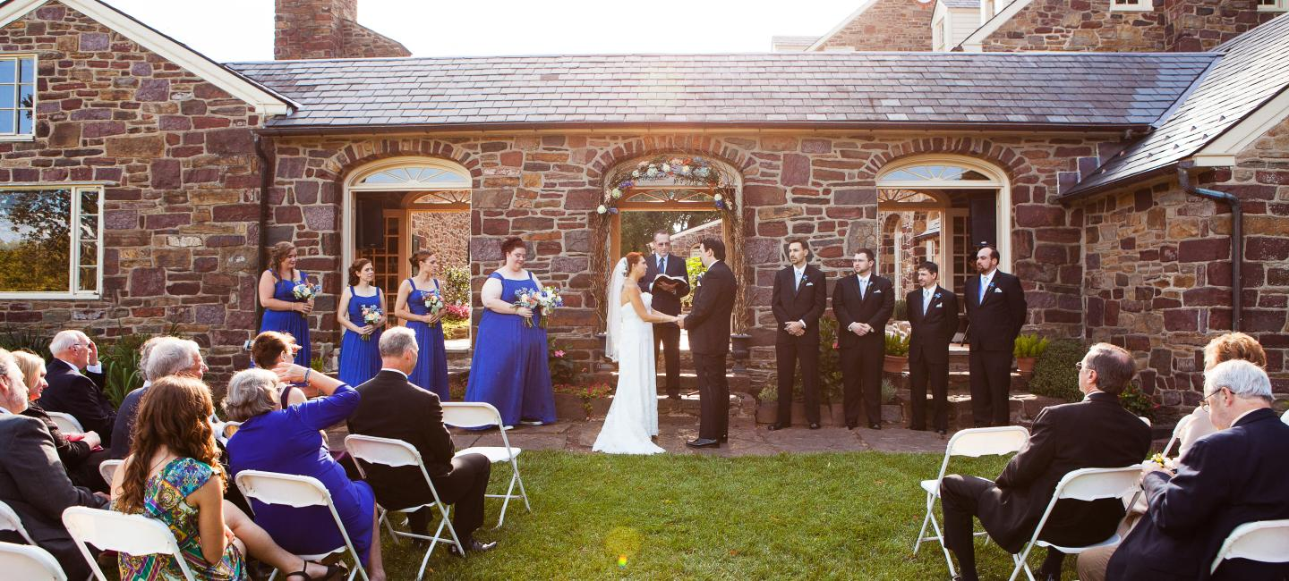 Bucks county pennsylvania outdoor wedding venues for Beautiful gardens to get married in