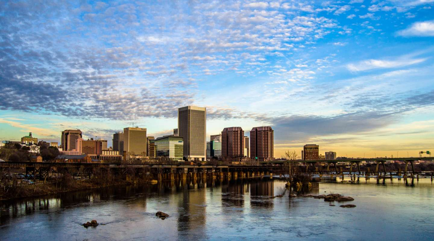 RVA winter skyline