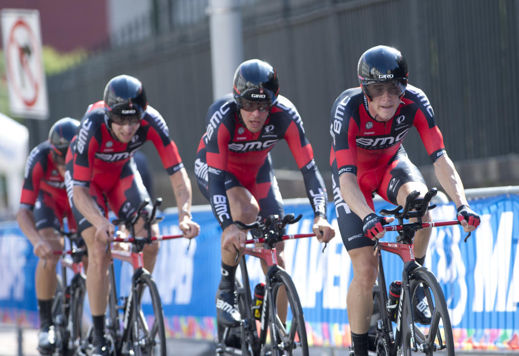 BMC wins the men's Team Time Trial at the UCI Road World Championship, Sept. 20, 2015