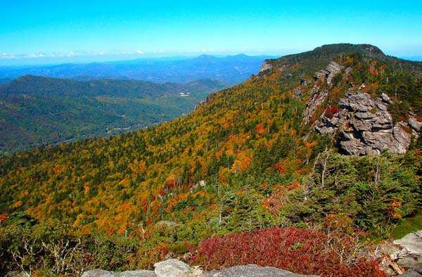 Fall Color Pictures Taken Today at Grandfather Mountain