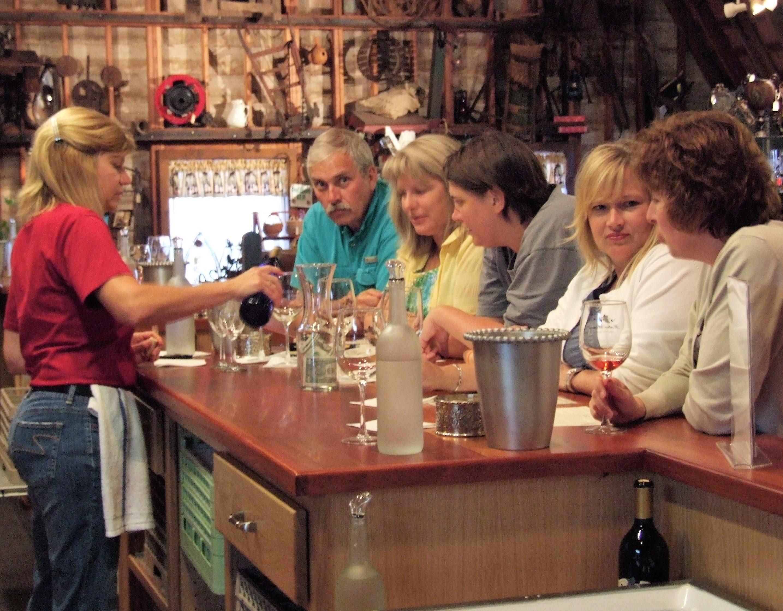 Huber Loft winetasting