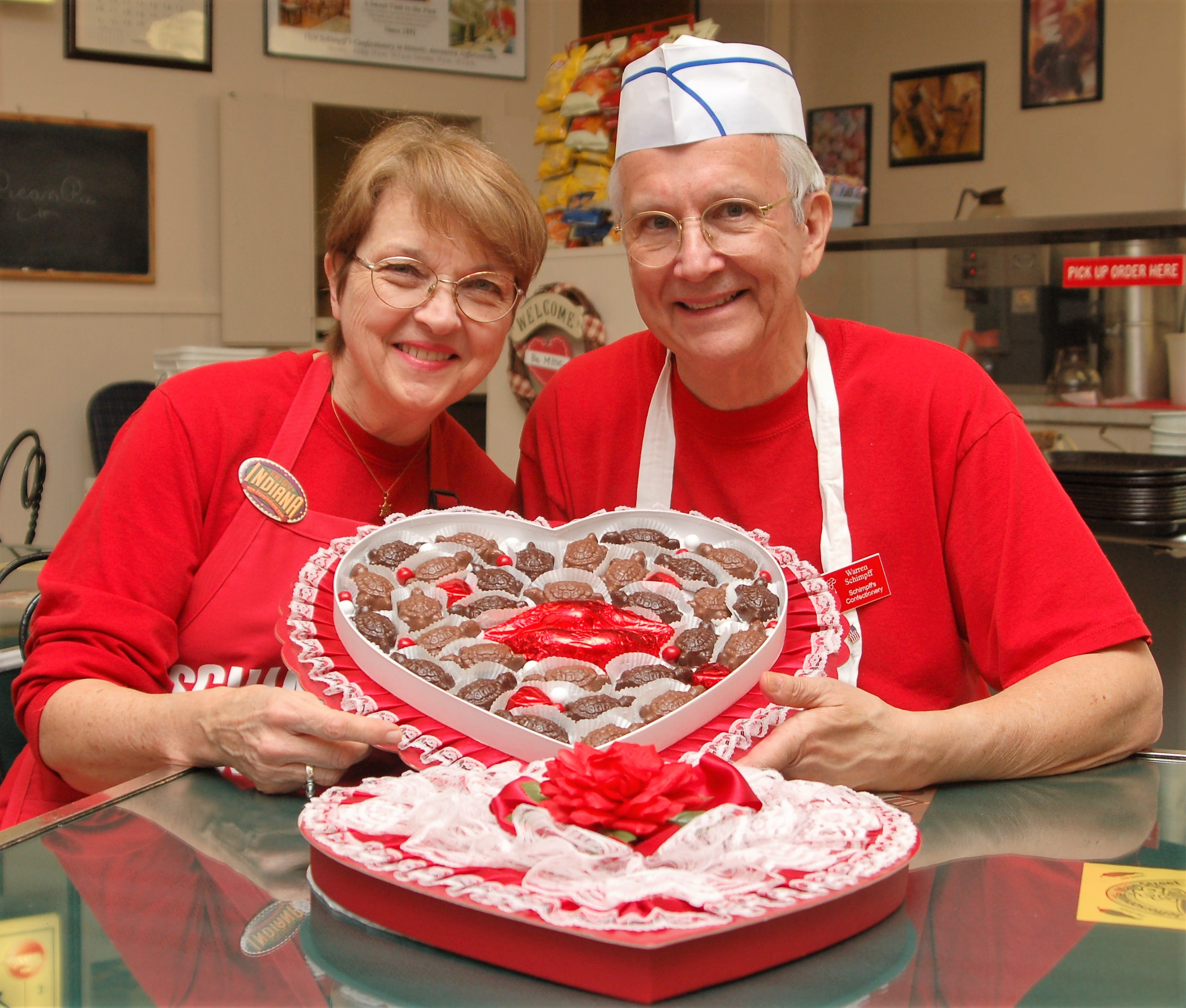 warren and jill valentines candy