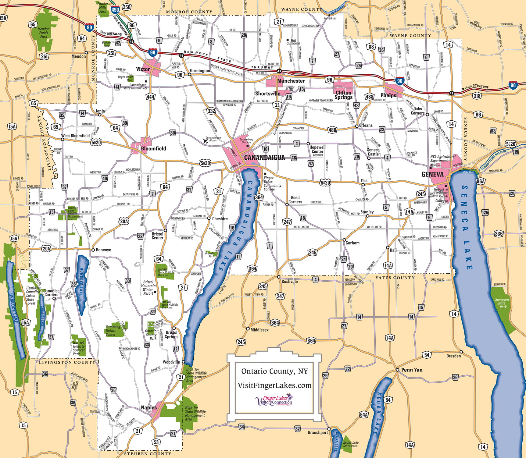 Finger Lakes Maps | Trip Planning | Visit Finger Lakes