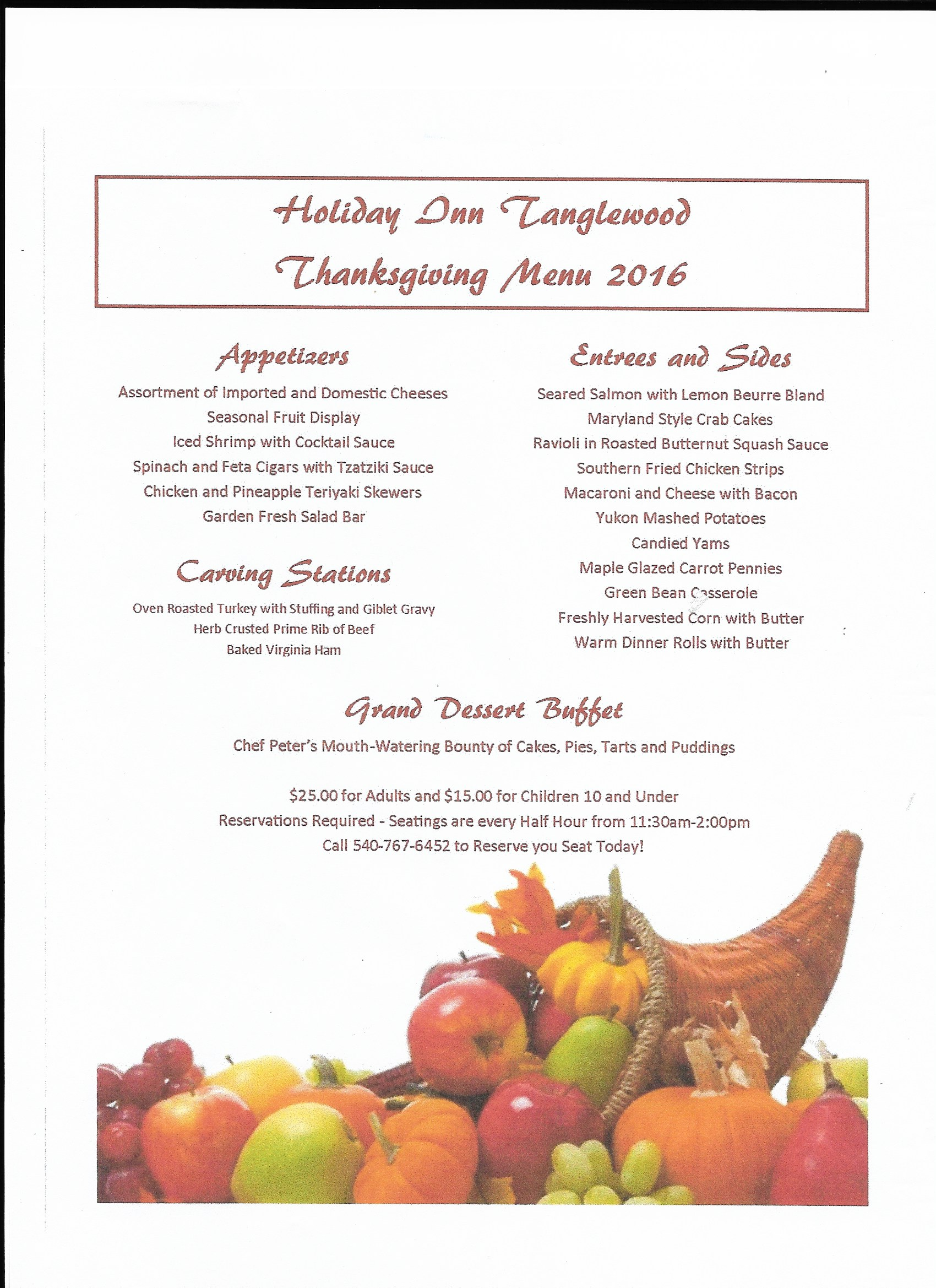 Hotel Roanoke Thanksgiving