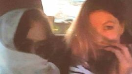 Schapelle Corby, left, being pursued through Bali by the media.