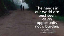 There is need all around us.
