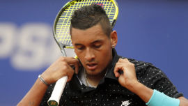 Australian tennis hotshot Nick Kyrgios is just one of many sporting 'bad boys' out there (Image: Shutterstock).