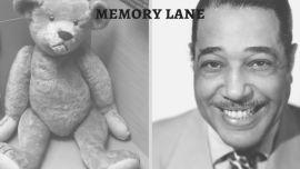 A teddy bear and Duke Ellington.