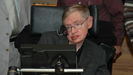 Stephen Hawking, one of the greatest minds we have ever seen.